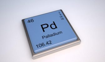Palladium chemical element of the periodic table with symbol Pd